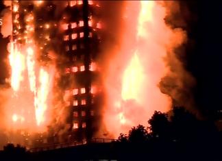 """Source : Capture d'écran de la vidéo """"London fire: Huge blaze breaks out in west London flats - BBC News"""" partagée par """"BBC News"""" sur Youtube."""