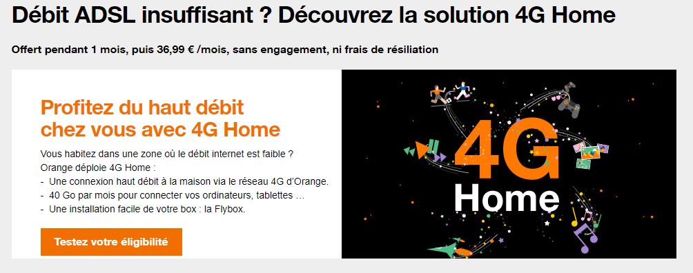 orange lance son offre 4g pour la maison la 4g home actumonde. Black Bedroom Furniture Sets. Home Design Ideas
