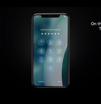 """Source : Capture d'écran de la vidéo """"Apple Official iPhone 8 Trailer 2017"""" publiée par """"ConceptsiPhone"""" sur Youtube."""